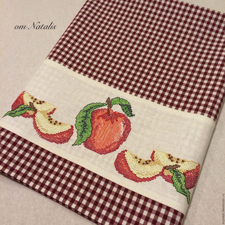 Полотенце с вышивкой для кухни