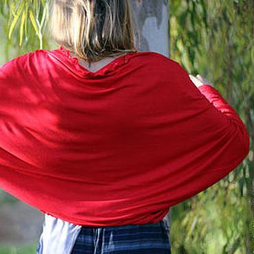 Одежда ручной работы. Ярмарка Мастеров - ручная работа Красный Шраг Болеро из трикотажа. Handmade.