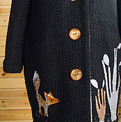 Одежда handmade. Livemaster - original item Coat with black Fox.. Handmade.