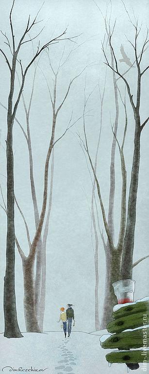 Бес Снега. 35 на 87 см.