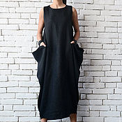 Одежда handmade. Livemaster - original item Black Maxi Dress. Handmade.