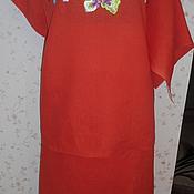 Одежда ручной работы. Ярмарка Мастеров - ручная работа вышитая шелком заготовка на летний костюм(лен). Handmade.
