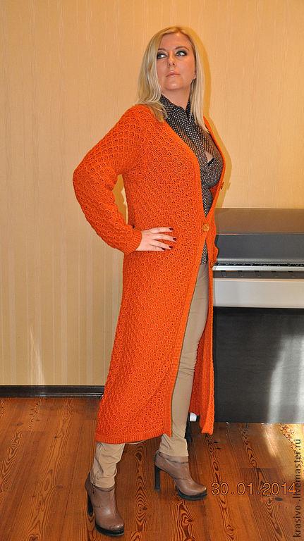 """Верхняя одежда ручной работы. Ярмарка Мастеров - ручная работа. Купить Пальто Соты"""". Handmade. Рыжий, пальто из шерсти"""
