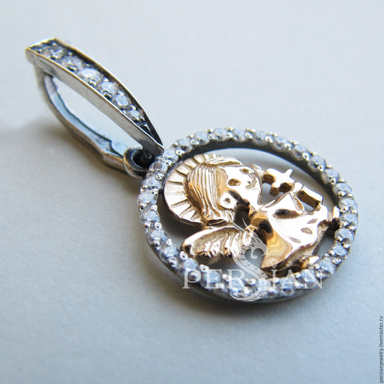 Silver scapular 'Star angel', Pendants, Sevastopol,  Фото №1