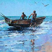 Картины и панно ручной работы. Ярмарка Мастеров - ручная работа С рыбалки. Handmade.