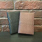 Канцелярские товары handmade. Livemaster - original item Passport covers made from Python IMP0077. Handmade.