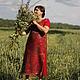 """Платья ручной работы. Ярмарка Мастеров - ручная работа. Купить Валяное платье """"Просто красное"""". Handmade. Красный, вечернее платье"""