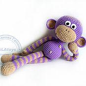 Куклы и игрушки ручной работы. Ярмарка Мастеров - ручная работа Вязаная обезьянка. 42 см.. Handmade.
