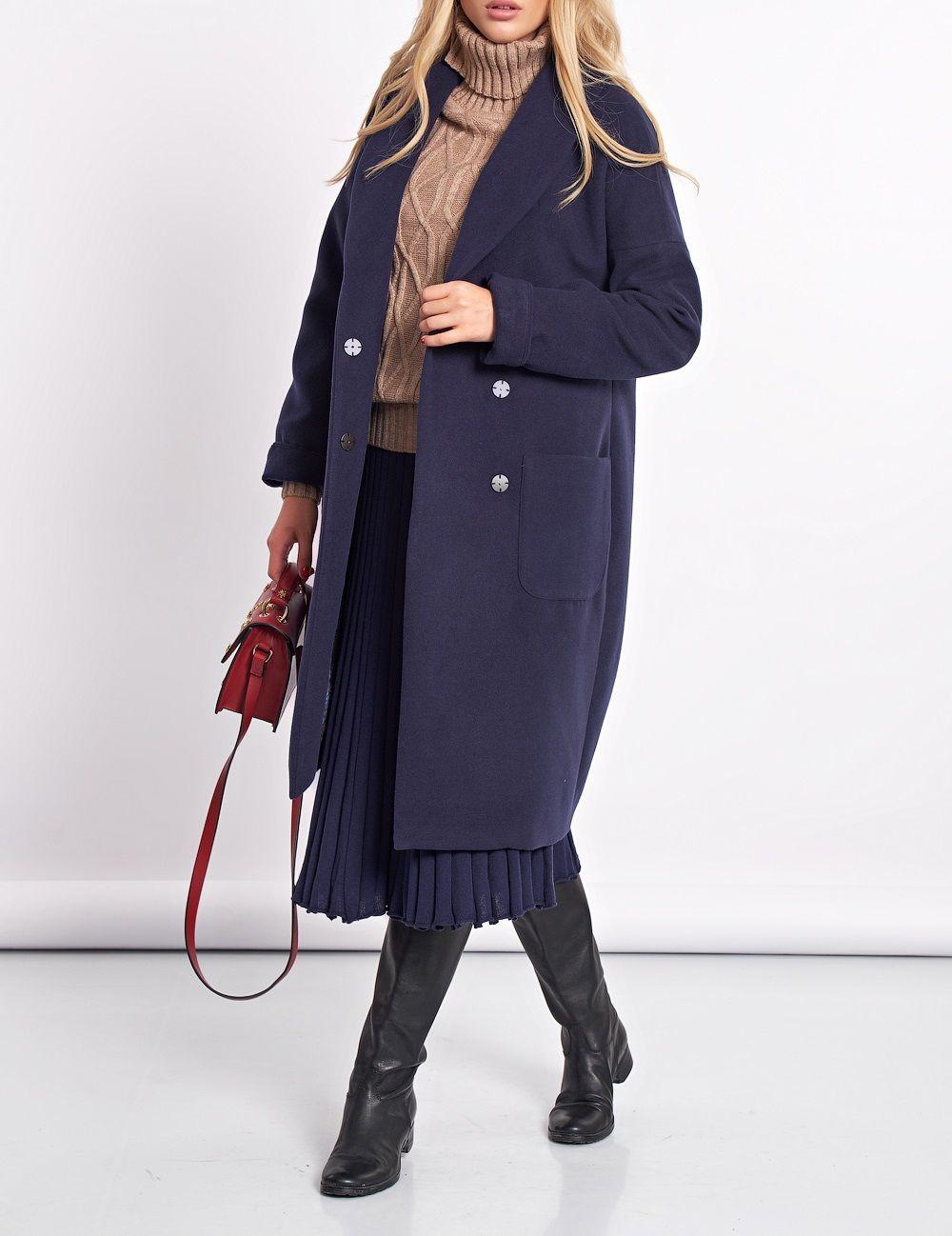 Пальто темно-синее, Верхняя одежда, Москва, Фото №1