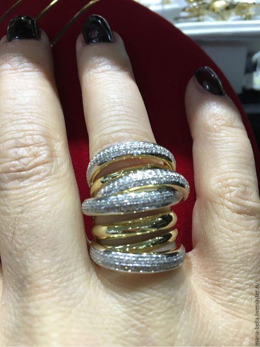 Кольца ручной работы. Ярмарка Мастеров - ручная работа. Купить Amazing! Золотое кольцо с бриллиантами. Handmade. Золотой, кольцо с бриллиантами
