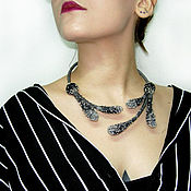 Украшения handmade. Livemaster - original item TWILIGHT felt open necklace decoration. Handmade.