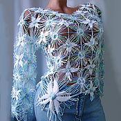 Одежда ручной работы. Ярмарка Мастеров - ручная работа Пуловер,,Лазурный Tenerife,,. Handmade.
