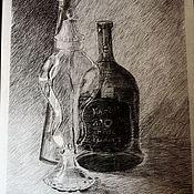 """Картины и панно ручной работы. Ярмарка Мастеров - ручная работа Графика""""Стекло"""". Handmade."""