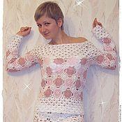 """Одежда ручной работы. Ярмарка Мастеров - ручная работа Летний свитер """" Розовый коктейль"""". Handmade."""