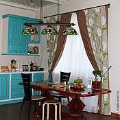Для дома и интерьера ручной работы. Ярмарка Мастеров - ручная работа Комплект штор для гостиной-столовой. Handmade.