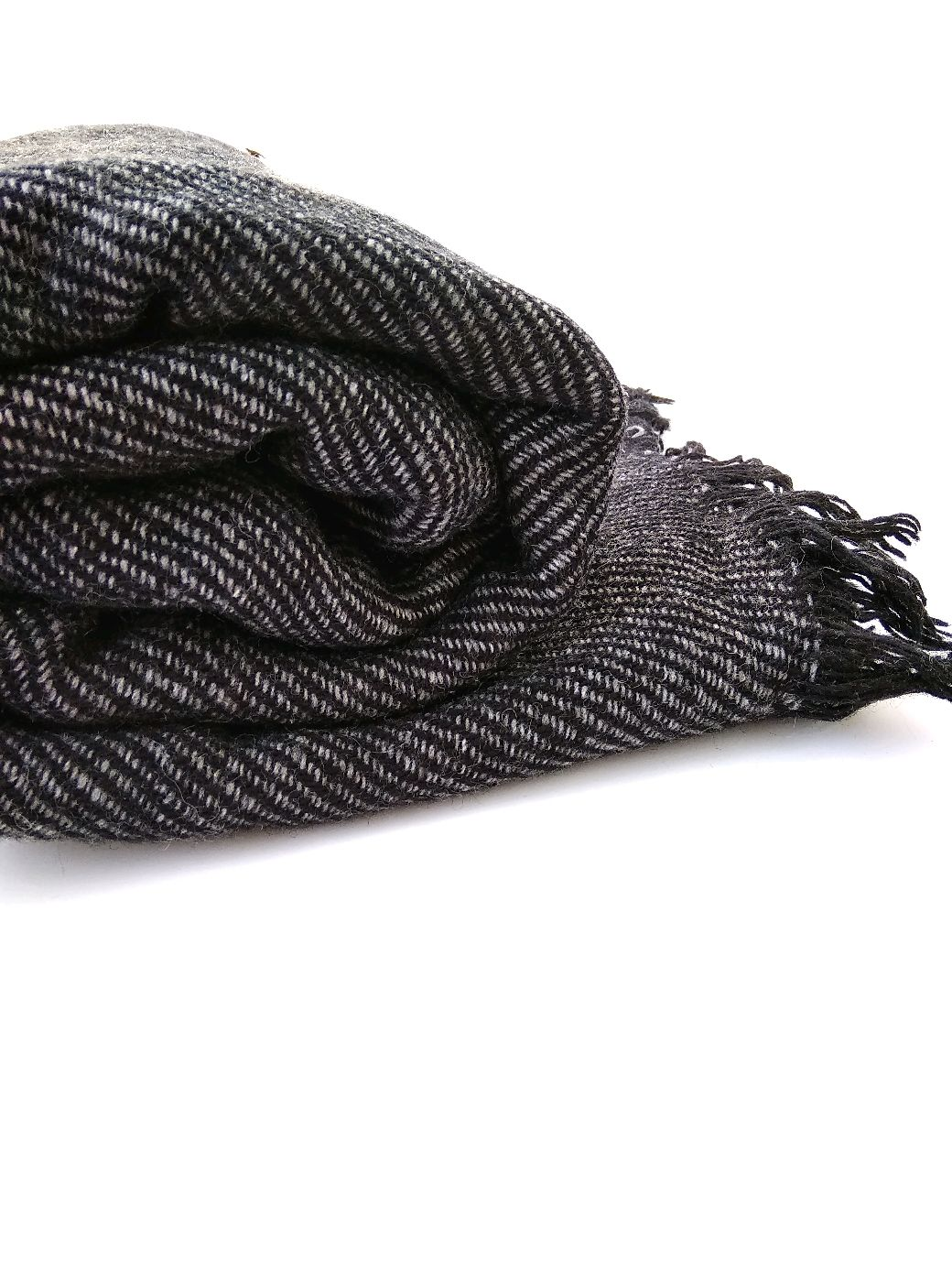 Палантин-шаль из шерсти темно серый, Палантины, Санкт-Петербург,  Фото №1
