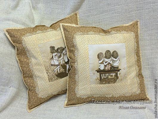 Наволочки декоративная в детскую. Подарок подруге или сестре. Диванная подушка Подушки для детей   Подарок девочке сестре подруге  на день рождения Текстиль для детской Подушка в подарок