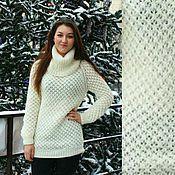 """Одежда ручной работы. Ярмарка Мастеров - ручная работа свитер """"Снежный"""". Handmade."""