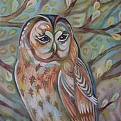 Картины и панно handmade. Livemaster - original item Owl, Keeper of the dream.. Handmade.