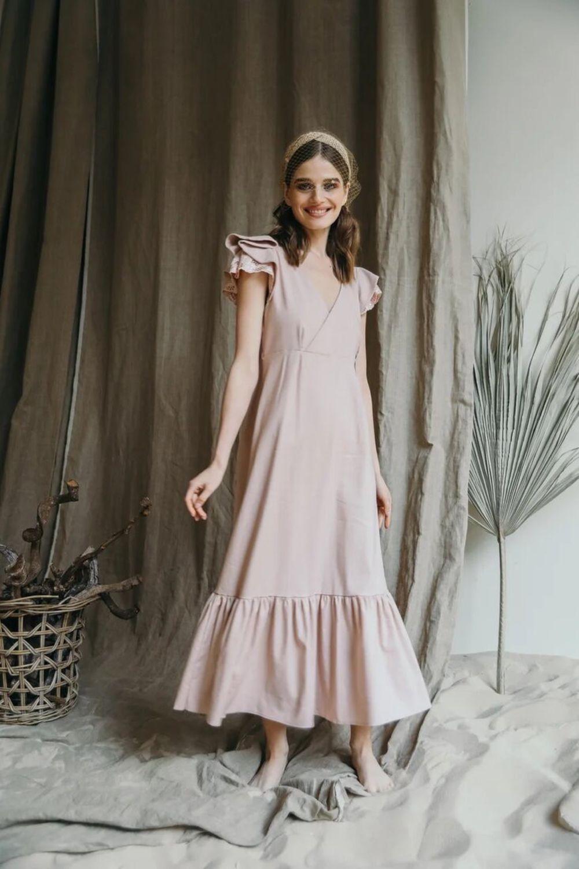 Льняное платье в стиле Shabby Chic пудрового цвета, Платья, Москва,  Фото №1