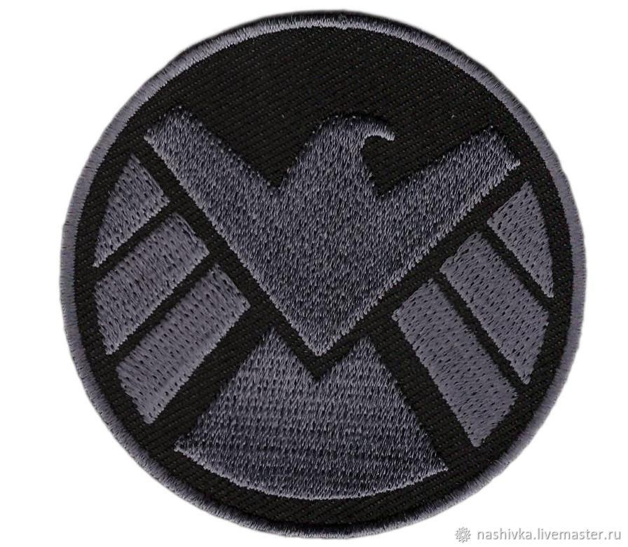 Subdued SHIELD Logo Eagle Avengers Logo Super Heroes Cosplay Patch, Аппликации, Москва,  Фото №1