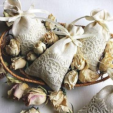 Свадебный салон ручной работы. Ярмарка Мастеров - ручная работа Мешочки льняные подарочные. Handmade.