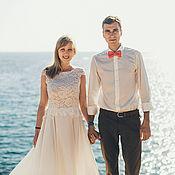Свадебный салон ручной работы. Ярмарка Мастеров - ручная работа Свадебное платье для Нины. Handmade.