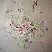 Для дома и интерьера handmade. Livemaster - original item Linen curtains with painted