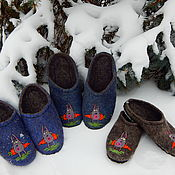 Обувь ручной работы handmade. Livemaster - original item Felted Slippers for men or women