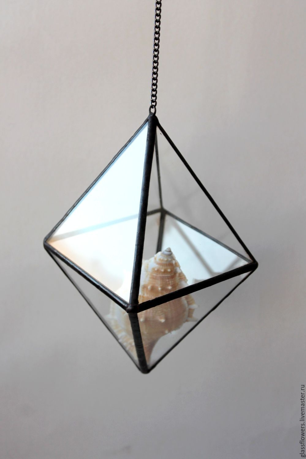 large shade copper with cage geometric product pendant wire