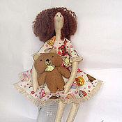 Куклы и игрушки ручной работы. Ярмарка Мастеров - ручная работа кукла с мишуткой. Handmade.