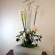 Цветы и флористика ручной работы. Ярмарка Мастеров - ручная работа Калла на языке цветов-Уравновешенность. Handmade.
