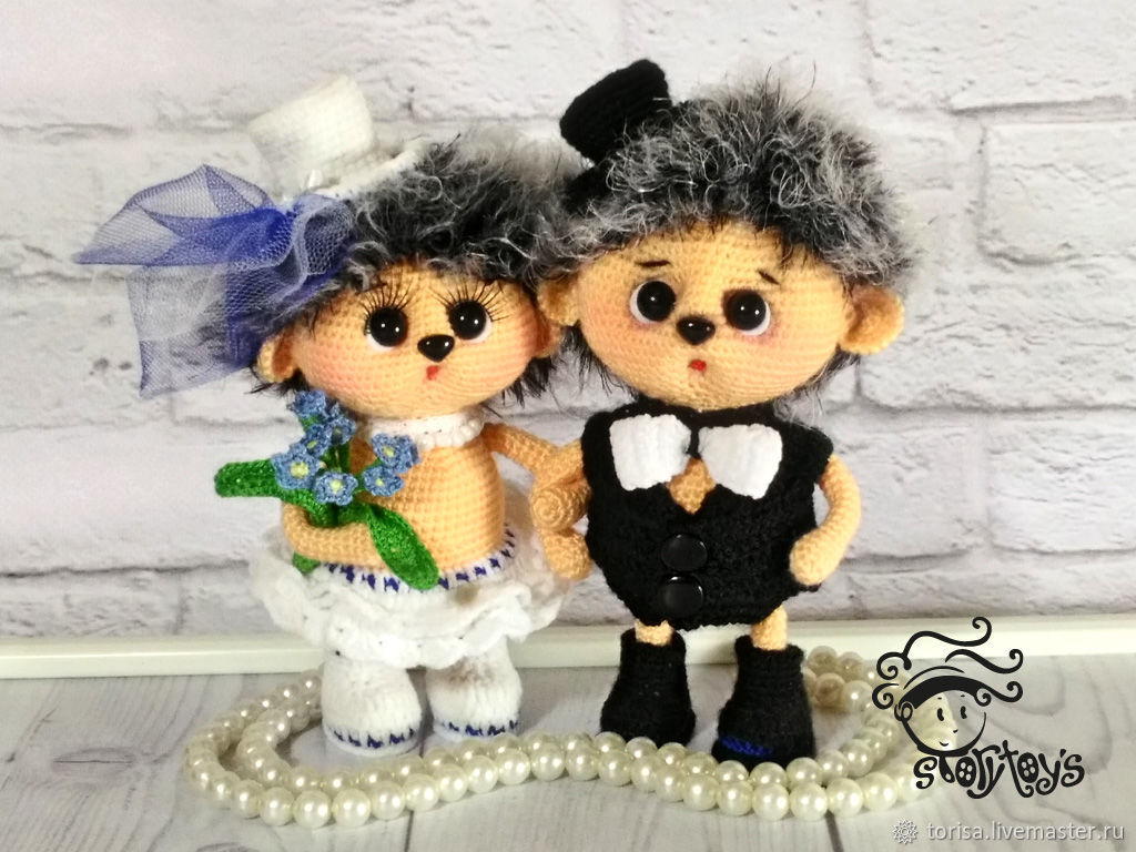 Hedgehogs Molodezhki toy for wedding, Stuffed Toys, Moscow,  Фото №1