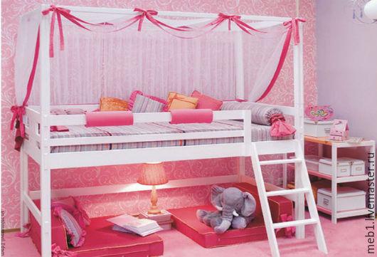 Детская ручной работы. Ярмарка Мастеров - ручная работа. Купить Кроватка для принцессы №6. Handmade. Белый, кровать из дерева