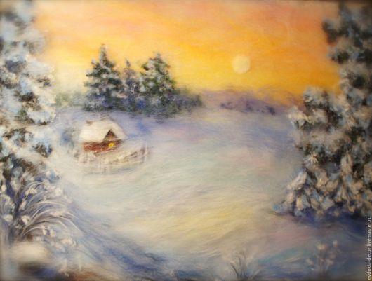 Пейзаж ручной работы. Ярмарка Мастеров - ручная работа. Купить Пейзаж Зимний. Handmade. Зима, зимний, зимний пейзаж