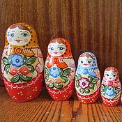Посуда handmade. Livemaster - original item Matryoshka 7 (Gorodetskaya Rospis). Handmade.