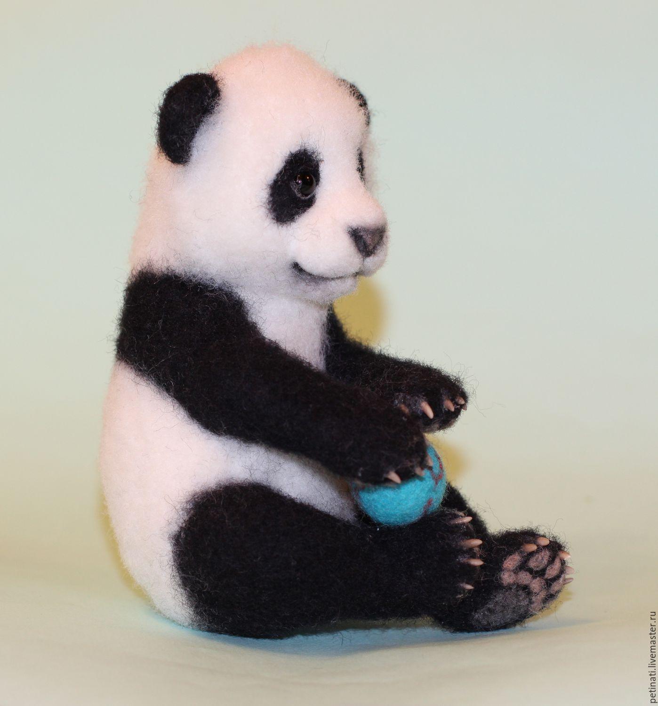 felt panda'hime', Felted Toy, Moscow,  Фото №1
