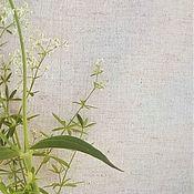 handmade. Livemaster - original item Linen with cotton, natural linen color, width 150 cm. Handmade.