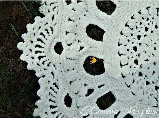 Текстиль, ковры ручной работы. Ярмарка Мастеров - ручная работа. Купить Вязаный ковёр. Handmade. Белый, стильная вещь