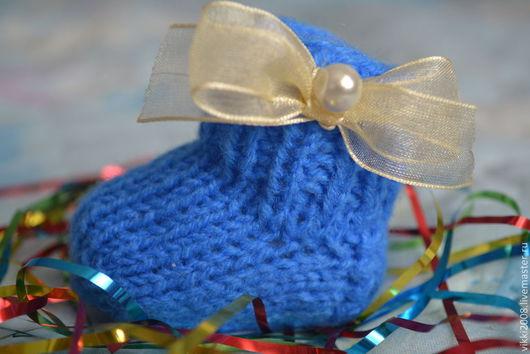 Новый год 2017 ручной работы. Ярмарка Мастеров - ручная работа. Купить Новогодний носочек. Handmade. Новый Год, носочки вязаные
