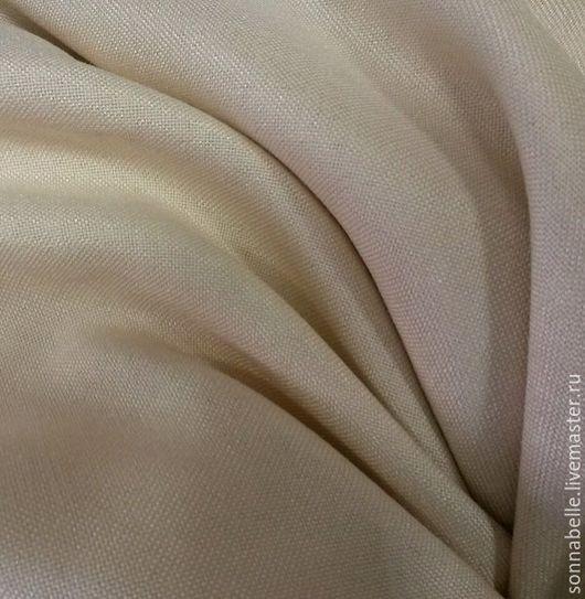 Шитье ручной работы. Ярмарка Мастеров - ручная работа. Купить Портьерная ткань под лен Темно-молочный. Handmade. Комбинированный