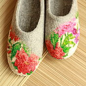 """Обувь ручной работы. Ярмарка Мастеров - ручная работа Тапочки """"Анисья-1"""". Handmade."""