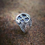 Фен-шуй и эзотерика handmade. Livemaster - original item Ring Hall Of The Serpent. Handmade.
