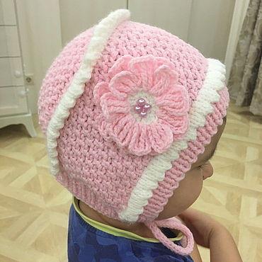 """Одежда ручной работы. Ярмарка Мастеров - ручная работа Шапки: Детская шапочка  """"Розовая розочка"""". Handmade."""