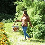 """Одежда ручной работы. Ярмарка Мастеров - ручная работа """"Птица - осень""""  Стёганый жакет и сумка в технике квилтинг. Handmade."""