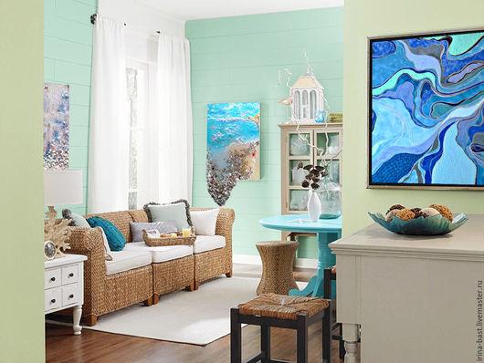 Картина. Море. Картина 3D. Купить картину, магазин картин, интернет магазин картин. Картина для интерьера, морской стиль, картины в гостиную. Гиперреализм. Инсталляция.
