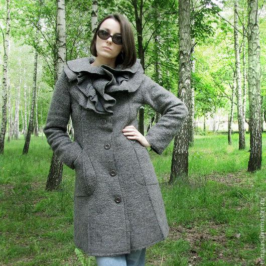Верхняя одежда ручной работы. Ярмарка Мастеров - ручная работа. Купить Пальто серое молодежное. Handmade. Темно-серый, италия