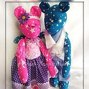 Куклы и игрушки ручной работы. Ярмарка Мастеров - ручная работа Мишки тильды парочка. Handmade.