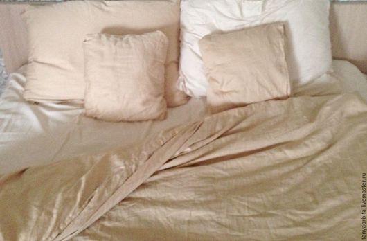 Текстиль, ковры ручной работы. Ярмарка Мастеров - ручная работа. Купить Комплект постельного белья из шёлкового сатина. 100 % хлопок. Handmade.