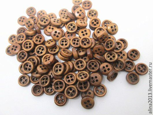 деревянные пуговицы 11мм